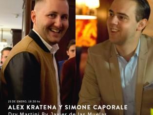 Alex Kratena y Simone Caporale en Dry Martini Madrid By Javier de las Muelas